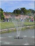 SE3238 : Fountain in canal gardens, Roundhay Park, ,Leeds by Steve  Fareham