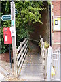 TM2363 : Footpath to Bedfield Road & The Street Bakery Postbox by Adrian Cable
