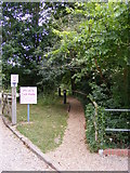 TM2363 : Footpath to The A1120 and the Post Office by Adrian Cable