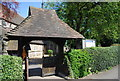 TQ3565 : Lych gate, Church of St John, Shirley by N Chadwick