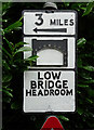 SJ6701 : Road sign, Broseley by Stephen Richards
