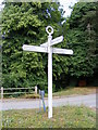 TM1868 : Bedingfield Roadsign by Geographer