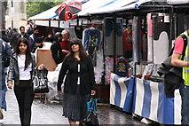 SP0198 : A wet day on Walsall Market by Derek Bennett