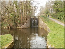 ST2896 : Canal lock south of Five Locks Road, Cwmbran by Jaggery