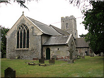 TM3464 : St Michael's church in Rendham by Evelyn Simak