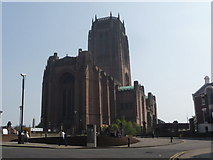 SJ3589 : Liverpool: the Anglican cathedral from across Upper Duke Street by Chris Downer