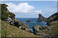 SX0789 : Tintagel: towards Long Island by Martin Bodman