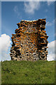 NT5428 : The remains of a windmill at Kippilaw by Walter Baxter