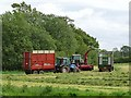 NY3843 : Silage making at Lambfield Farm by Oliver Dixon
