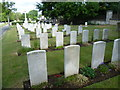 TQ4768 : R.A.F graves in St Mary Cray Cemetery by Marathon