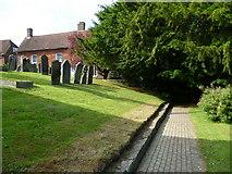 TQ3632 : Path through West Hoathly churchyard by Shazz