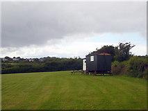 SW7033 : Shepherds' huts at Lower Dacum Farm by Rod Allday