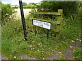 SD4560 : Name board, Aldcliffe Hall Lane by Alexander P Kapp
