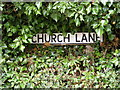 TM2558 : Church Lane sign by Adrian Cable