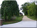 TM2665 : Footpath to World's End Road & entrance to Church Farm by Adrian Cable
