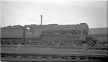 TQ3084 : Engine at the old Kings Cross loco depot by John Firth