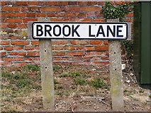 TM2863 : Brook Lane sign by Adrian Cable