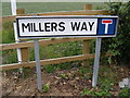 TM2763 : Millers Way sign by Adrian Cable
