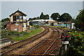 TG3018 : Looking north from Hoveton and Wroxham station by Glen Denny