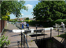 SO8690 : Swindon Lock near Wombourne, Staffordshire by Roger  Kidd