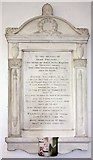 TL1589 : St Mary, Stilton - Wall monument by John Salmon