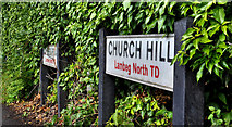 J2866 : Road name signs, Lambeg by Albert Bridge