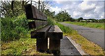 J2967 : Seat, Lagan towpath, Ballyskeagh/Lambeg by Albert Bridge