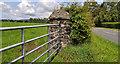 J2866 : Gatepost, Lambeg by Albert Bridge
