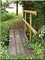 TM2964 : Footbridge of the footpath to the B1120 Badingham Road by Adrian Cable
