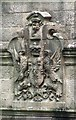 NS4276 : Armorial achievement on side of Overtoun Bridge by Lairich Rig