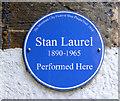 NS5964 : Stan Laurel blue plaque by Thomas Nugent