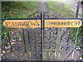 TG0524 : St.Andrew's Church Name sign by Adrian Cable
