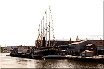 ST5772 : The SS Great Britain in the dry dock by Steve Daniels