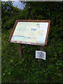 TG0624 : Information Board next  to Marriott's Way footpath by Adrian Cable