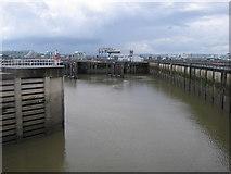 ST1972 : Locks in Cardiff bay barrage by Rudi Winter