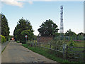 "TM1231 : ""Essex Secret Bunker"" Mast near Village Hall by Roger Jones"