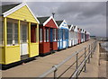 TM5176 : Beach huts, Southwold by Roger Cornfoot