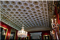 SK2670 : Ceiling of Dining Room, Chatsworth House, Derbyshire by Christine Matthews