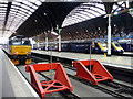 TQ2681 : Buffers, Paddington Station, London by Christine Matthews