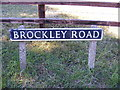 TL3163 : Brockley Road sign by Adrian Cable