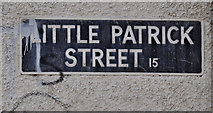 J3375 : Little Patrick Street sign, Belfast by Albert Bridge