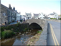 SH1726 : The bridge over the River Daron in Aberdaron by Jeremy Bolwell