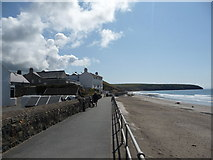 SH1726 : Part of the seafront at Aberdaron by Jeremy Bolwell