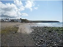 SH1726 : Part of the beach at Aberdaron by Jeremy Bolwell