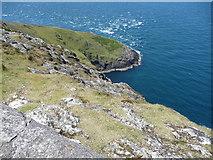 SH1325 : The waters off Braich y Pwll by Jeremy Bolwell