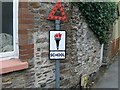SX8050 : Oldest school sign in Devon by Henry Marshall