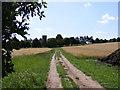 TM3864 : Footpath to Carlton Church by Adrian Cable