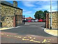 NZ2560 : Entrance to Kells Lane Primary School by Alex McGregor