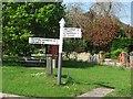 ST5431 : Fingerpost, Barton St David by Richard Webb