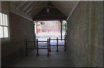 SO7845 : The ramp down to Great Malvern Station by Bob Embleton